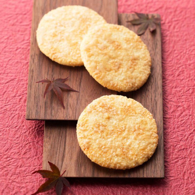 【秋季限定】大判煎餅「月まどか」 メイプル蜜がけ 11袋入